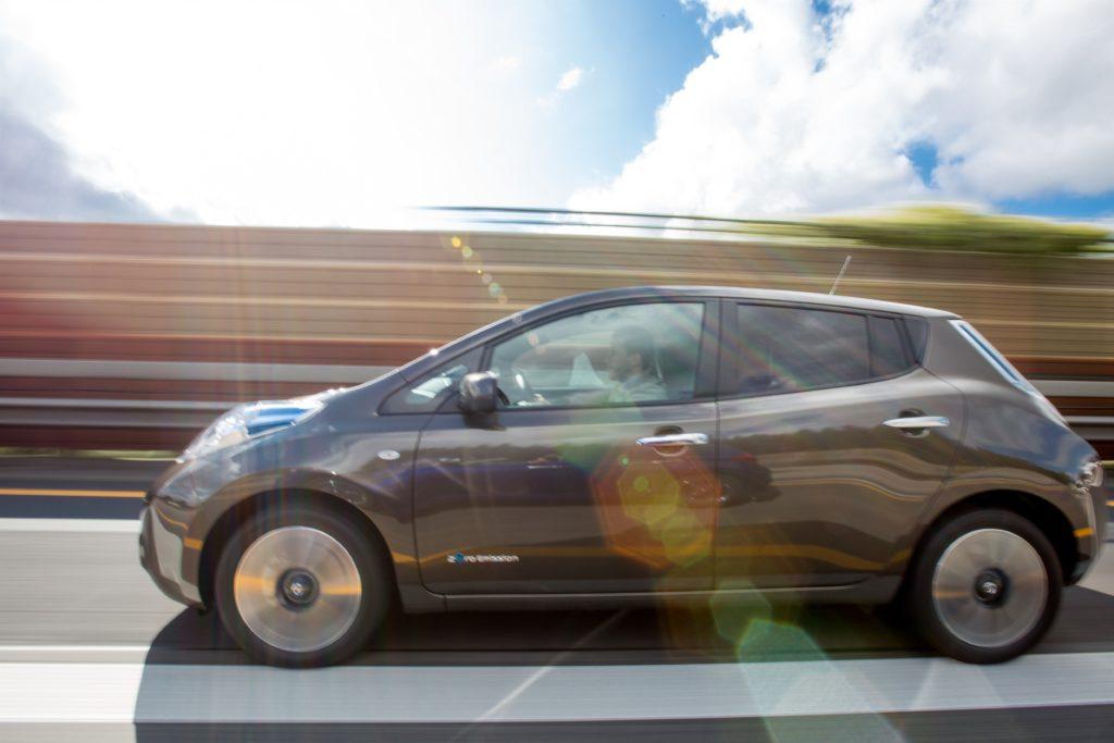 Mit 30 kWh starkem Akku lässt sich der Nissan Leaf auch von großen Distanzen nicht schrecken